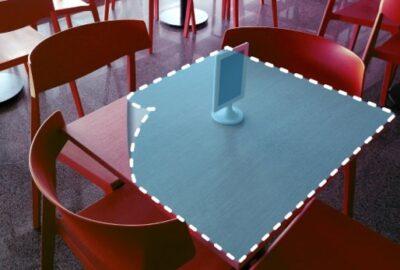 transparante zelfklevende folie voor op tafel