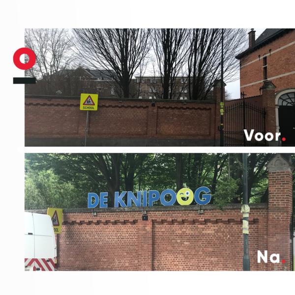 Signalisatie voor scholengroep KOV4