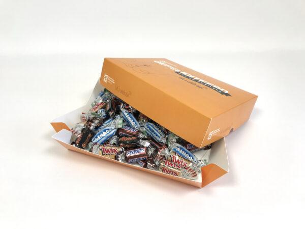 Sfeerbeeld van de giftbox die drukkerij burocad heeft gemaakt voor Voka